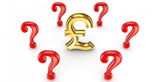 Illustration of question marks surrounding a pound sign
