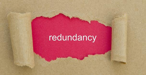 Image of the word redundancy