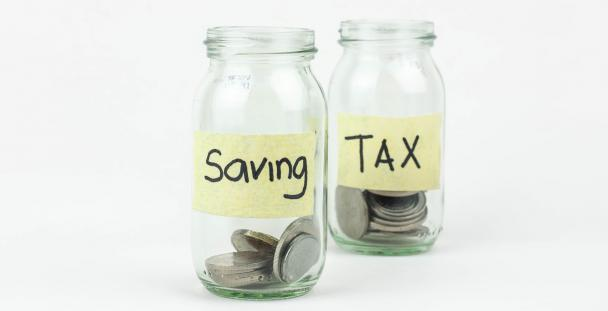 Image of a tax jar and savings jar