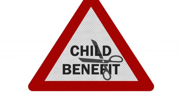 child benefit warning symbol