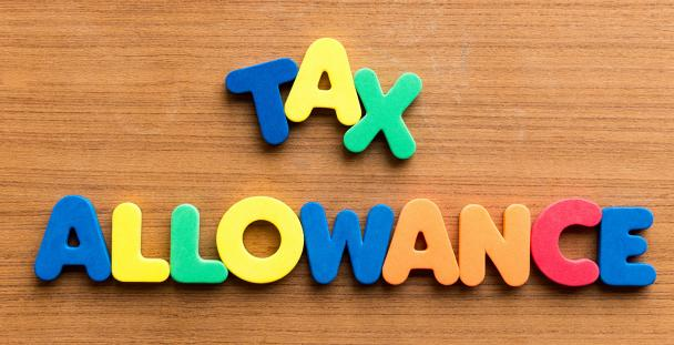 Image of letters spelling tax allowance