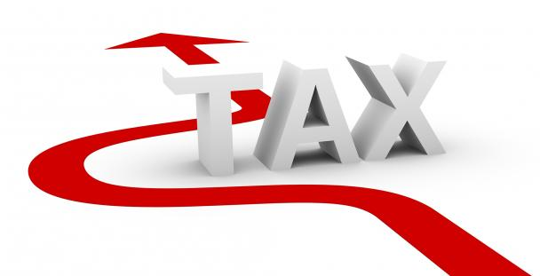 Image of an arrow avoiding the word tax