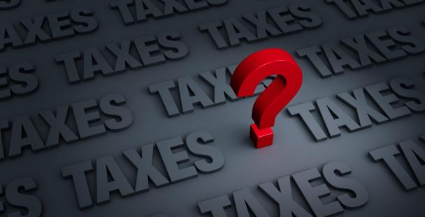 Image of the word tax and a question mark