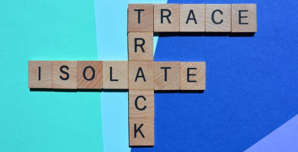 Image of letters spelling trace track and isolate