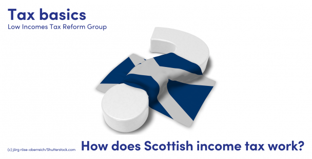 Illustration of a Scottish flag draped over a question mark