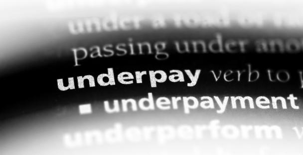 Image of a dictionary page with the word underpay