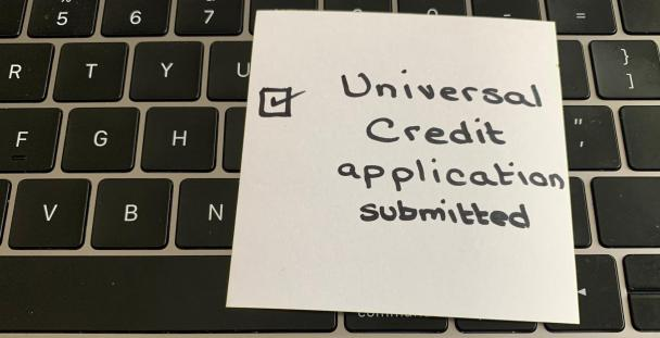 universal credit application done (c) Shutterstock / Velour Noire