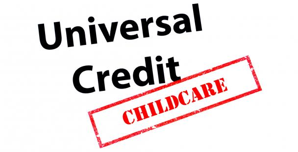 Image of the words universal credit childcare