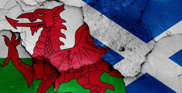 Wales and Scotland flag images