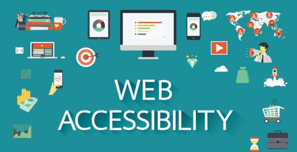 Illustration show website accessibility icons