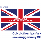 Illustration of a Union Jack with the words Coronavirus Job Retention Scheme written on it