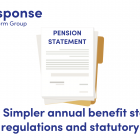 Illustration of a pension statement
