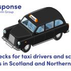 Illustration of a black cab taxi