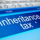 Image of the words inheritance tax on a computer screen