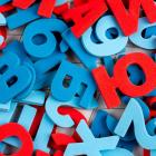 red and blue numbers letters (c) Shutterstock / Irina Timokhina