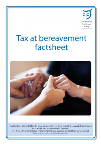 LITRG Tax at Bereavement Factsheet cover updated 2019