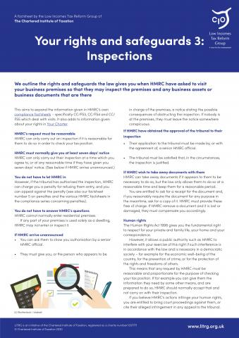 LITRG Factsheet HMRC inspections cover 2020